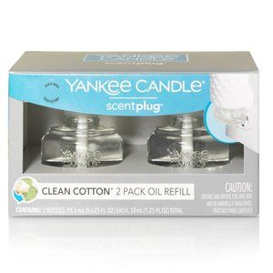 Yankee Candle Scent Plug Oil 2 Pack Clean Cotton